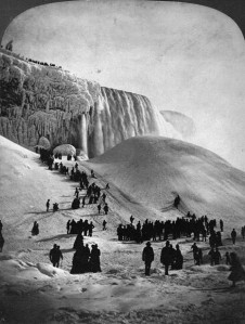 Ice bridge – George Barker, Library and Archives Canada, PA-056072